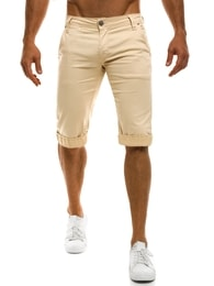 Mario Classic Béžové krátké chino kalhoty MARIO CLASSIC 200 - 29
