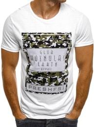 J. Style Pánské bílé tričko J.STYLE SS167