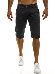 Mario Classic Černé krátké chino kalhoty MARIO CLASSIC 200 - 29