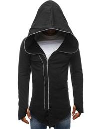 J. Style Trendy černá prodloužená pánská mikina J.STYLE 2036-10