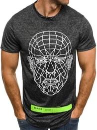 J. Style Černé atraktivní pánské tričko J.STYLE SS069