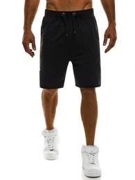 J. Style Nápadité černé kraťasy se zipem J.STYLE AK07 - XL
