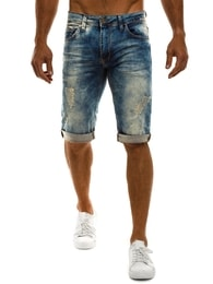 Dark Blue Jeansové pánske kraťasy DARK BLUE 823 - 32
