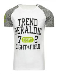 Atraktivní bílé pánské tričko s potiskem - M