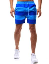 Moderní pruhované pánské plavky modré
