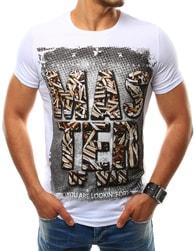 Atraktivní pánské bílé tričko s potiskem MASTER of WAR - M