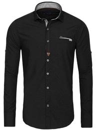 Rawlucci Exkluzivní moderní černá pánská košile RAW LUCCI 790