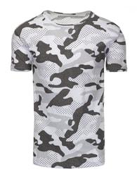 Pánské bílé tričko se vzorem