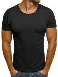J. Style Moderní černé pánské tričko J. STYLE 712006 - S