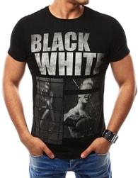 Originální černé tričko s potiskem - XXL