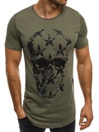 Breezy Zelené pohodlné pánské tričko BREEZY 301