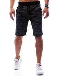 Dstreet Sportovní černé pánské kraťasy - XL