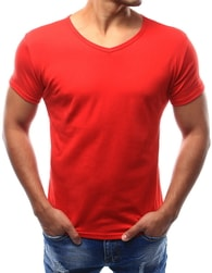 Dstreet Atraktivní pánské červené tričko - XXL
