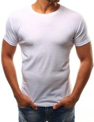 Dstreet Klasické bílé pánské tričko