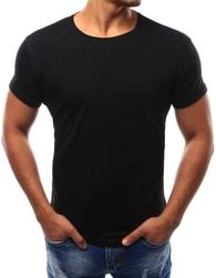 Dstreet Pohodlné černé pánské tričko - XXL