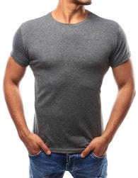 Dstreet Antracitové sportovní pánské tričko