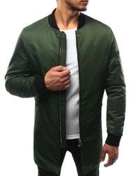 Dstreet Zelená prodloužená pánská bunda