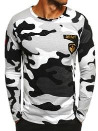 Athletic Šedé maskáčové tričko s dlouhým rukávem ATHLETIC 1086