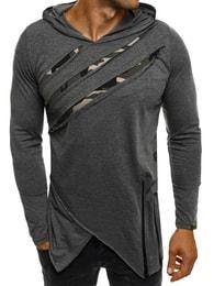 Breezy Grafitové asymetrické pánské tričko BREEZY 171334