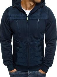 J. Style Moderní tmavě modrá bunda s kapucí J.STYLE AK27