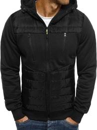 J. Style Černá moderní bunda s kapucí J.STYLE AK27