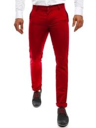 Black Rock Originální moderní pánské červené chinos kalhoty BLACK ROCK 206 - 30