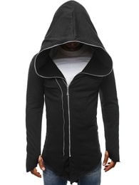 J. Style Trendy černá pánská prodloužená mikina J.STYLE 2036-10 - S