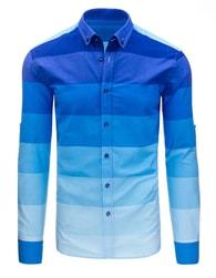 Dstreet Atraktivní pánská moderní modrá košile