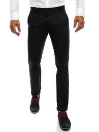 Black Rock Černé moderní pánské chinos kalhoty BLACK ROCK 202 - 30