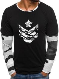 Athletic Neobyčejné černo-bílé pánské tričko ATHLETIC 1154