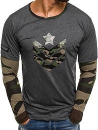 Athletic Propracované pánské grafitové tričko ATHLETIC 1154