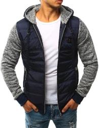 Dstreet Stylová pánská bunda tmavě modrá - M