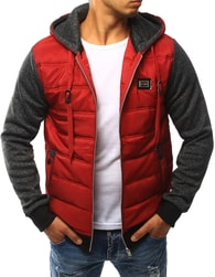 Dstreet Sportovní pánská červená bunda - M