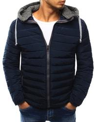 Dstreet Moderní pánská tmavě modrá bunda