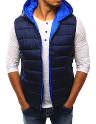 Dstreet Granátová prošívaná vesta s kapucí - L