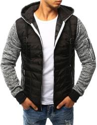 Dstreet Sportovní černá bunda s kapucí - M