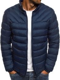 J. Style Pánská trendy prošívaná bunda v granátové barvě J.STYLE 516