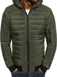 J. Style Prošívaná trendy khaki bunda J.STYLE AK85
