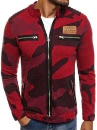 Athletic Pánská červená bunda s maskáčovým vzorem ATHLETIC 895 - S