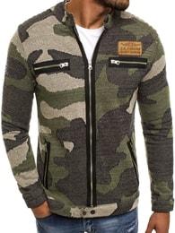 Athletic Pánská khaki bunda s maskáčovým vzorem ATHLETIC 895