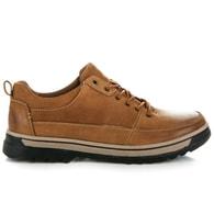 NEW AGE Kožené pánské hnědé boty