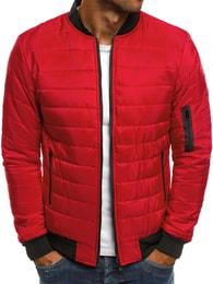 J. Style Výrazná červená moderní bunda J.STYLE AK84