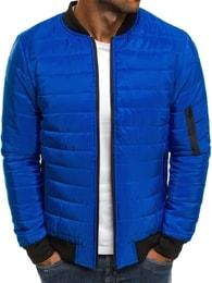 J. Style Výrazná modrá pánská bunda J.STYLE AK84
