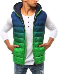 Dstreet Modro-zelená oboustranná prošívaná vesta