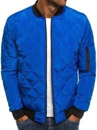 J. Style Nebesky modrá pánská prošívaná bunda J.STYLE AK76