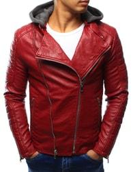 Dstreet Výrazná červená koženková bunda