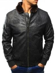Dstreet Pánská černá koženková bunda