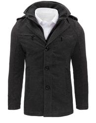 Dstreet Pánský atraktivní antracitový kabát