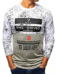 Dstreet Originální bílé tričko s potiskem - XXL
