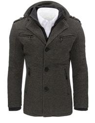 Dstreet Pánský šedý trendy kabát - XXL